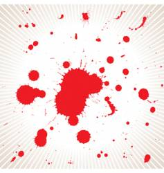 blood splash vector image vector image