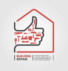 Building repair icon vector