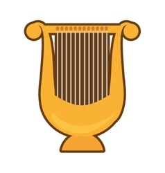 cartoon harp lyre music classic vector image