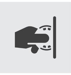 Casino chip icon vector image