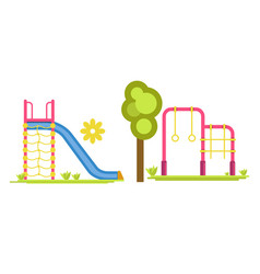 child playground with slides and bars vector image vector image