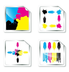 CMYK designs vector image vector image