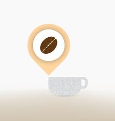 Coffee checkin concept vector