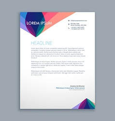 Creative business letterhead vector