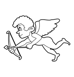 Cupid icon outline style vector image