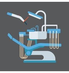 Dentist chair stomatology equipment vector image