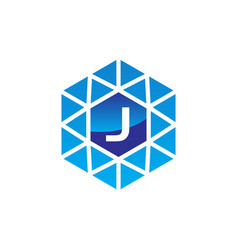 diamond initial j vector image