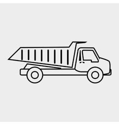Dump truck design vector