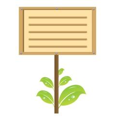 eco signboard vector image vector image