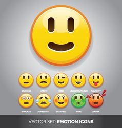 emotion icons vector image vector image