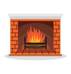 Fireplace with vector