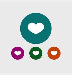 heart icon simple vector image vector image
