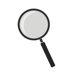 Magnifying glass tool No outline vector image