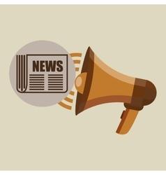megaphone concept news journal design vector image vector image