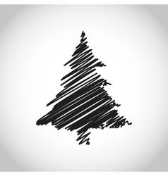 Merry christmas pinetree design vector