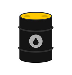 oil icon flat style vector image