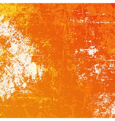 orange grunge background vector image vector image