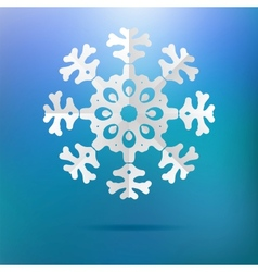 Paper christmas snowflake on a blue EPS8 vector image vector image