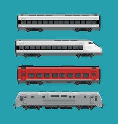passenger trains vector image vector image
