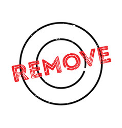 Remove rubber stamp vector