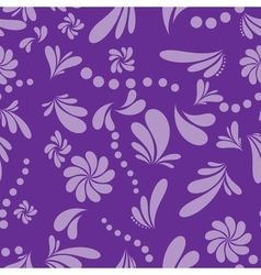 Seamless abstract floral background vector image vector image