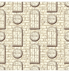Seamless Pattern with Brick Wall and vector image vector image