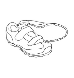 shoes for cyclists special cycling for cycling vector image vector image