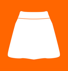 skirt white icon vector image