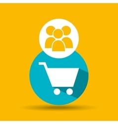 social media group shopping online design vector image