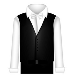 Sticker suit with shirt waistcoat and pants vector