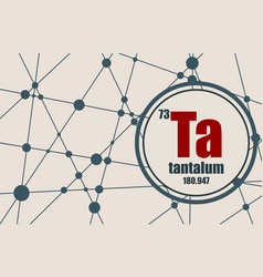 tantalum chemical element vector image vector image