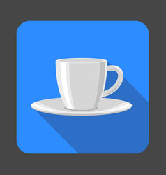 tea cup concept background cartoon style vector image