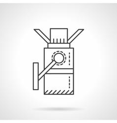 Turnstile flat line design icon vector image