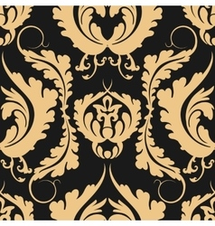 Vintage seamless pattern Damascus Elegant large vector image