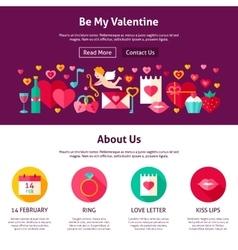 Web design be my valentine vector