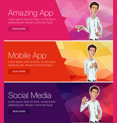 website headers promotion banners vector image vector image