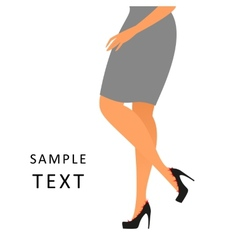 Woman feels a pain wearing shoes vector
