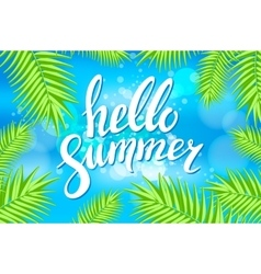 Hello summer sea party flyer design eps 10 vector