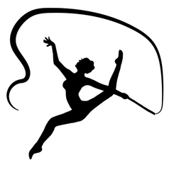 High quality original girl gymnastic doing vector