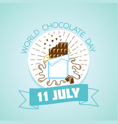 11 july world chocolate day vector