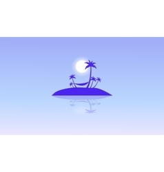 Silhouette of islands beautiful landscape vector image