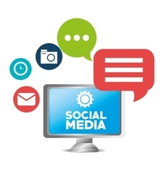 social media concept technology communication vector image