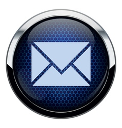 Blue honeycomb mail icon vector image