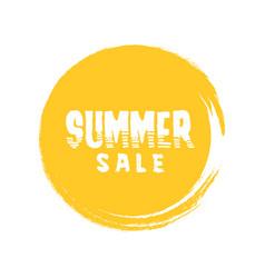 Summer sale letter in round grunge orange circle vector