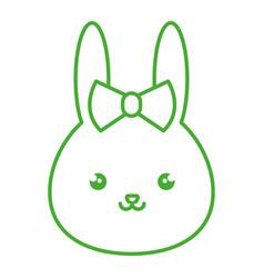 cute and tender female rabbit kawaii style vector image