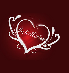 happy valentines day red background vector image