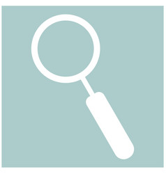 Loupe the white color icon vector