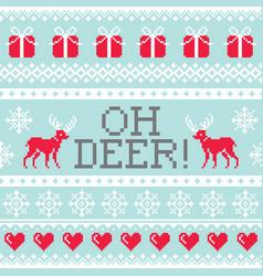 Oh deer pattern christmas seamless design winter vector