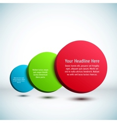 Colorful 3D circle background vector image