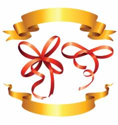 ribbon and bows vector image